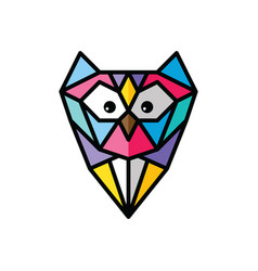 Owl logo logotype colorful theme vector