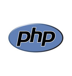 Php emblem blue shield and black text vector
