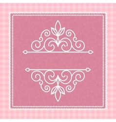 pink card with a pattern vector image vector image