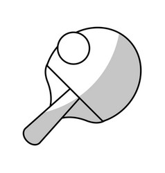 Racket ball ping pong game - shadow vector