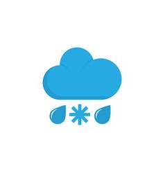 rain-snow flat icon symbol premium quality vector image