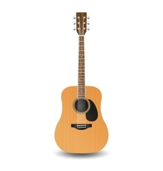 Realistic wooden guitar vector image