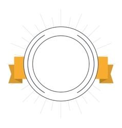 seal stamp ribbon label design vector image