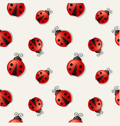 seamless background with ladybugs vector image