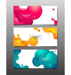 set abstract background liquid fluid texture vector image