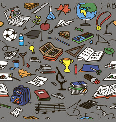 Set back to school educational objects vector