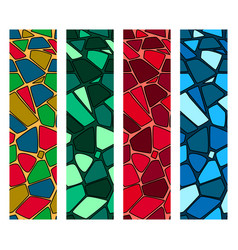 set of modern mosaic seamless pattern of vector image