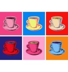 Set of mug vector