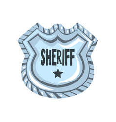 sheriff shield badge american justice emblem vector image