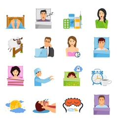Sleep Disorders Icon Set vector