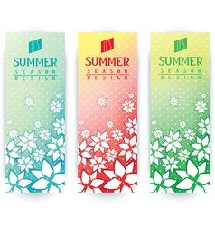 Summer flyers design vector