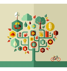 Sustainable life tree vector