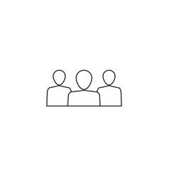 team line icon vector image vector image