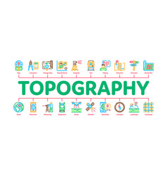 Topography research minimal infographic banner vector