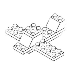 Toy building block bricks vector
