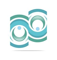 union crescent c letter logo design vector image
