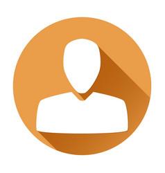 User icon orange round sign vector