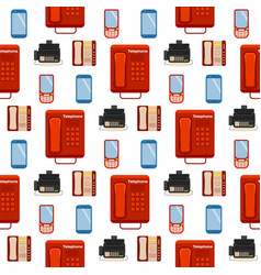 vintage phones retro lod telephone seamless vector image