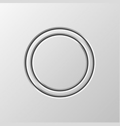 White abstract circle button template vector
