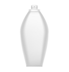 white shampoo bottle icon realistic style vector image