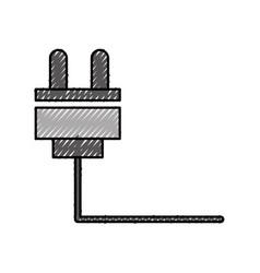 Wire cable connector icon vector