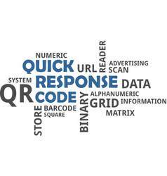 Word cloud - qr code vector