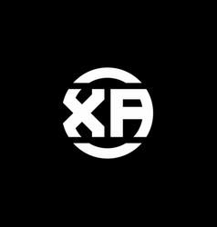 Xa logo monogram isolated on circle element vector