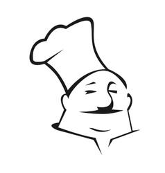 Cartoon chef in toque vector image vector image