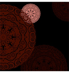 abstract ethnic background red vector image vector image