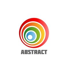 Abstract Round Design Element vector image vector image