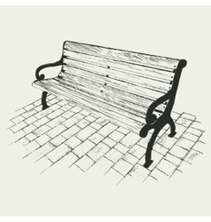 Bench isolated on white background vector image vector image