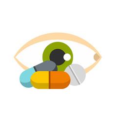 eye icon flat style vector image