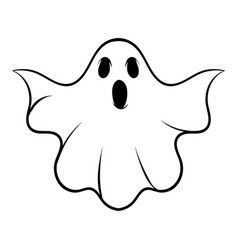 halloween ghost icon cartoon vector image