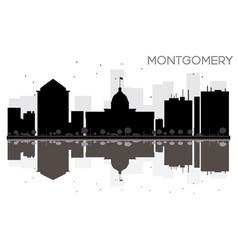 montgomery city skyline black and white vector image