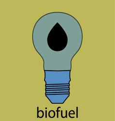 Biofuel icon flat design vector image vector image