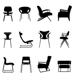 chair set vector image vector image
