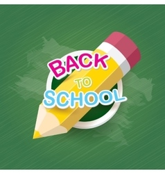 pencil with text Back to school background vector image vector image