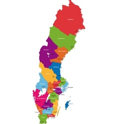 Sweden map vector image