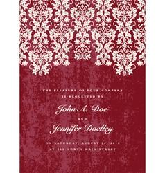 wedding invite vector image vector image