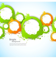 Abstract background with grunge circles vector image