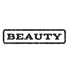 beauty watermark stamp vector image