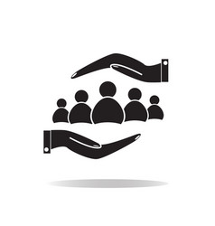 group of people and hands icon group of people vector image