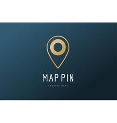 Map pin logo icon template travel logo vector