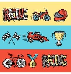 Racing Banners Set vector image