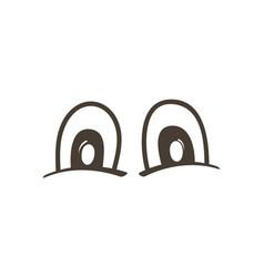 Wonder comic eyes expression vector