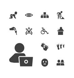 13 human icons vector