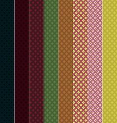 8 Seamless Patterns Rhombuses EPS10 vector image