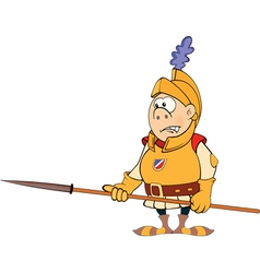 A cartoon knight vector