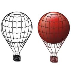 Ancient air balloons vector