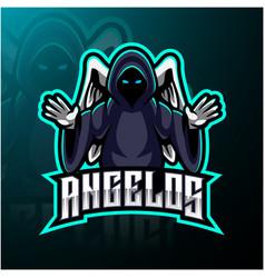 angel esport mascot logo design vector image